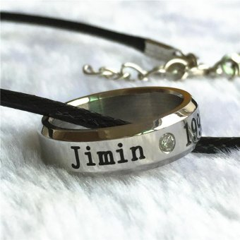 Harga Youpop K-POP BTS Bangtan Boys Wings Album Jimin Rope Ring Accessories KPOP Jewelry Rings With Lanyard - intl