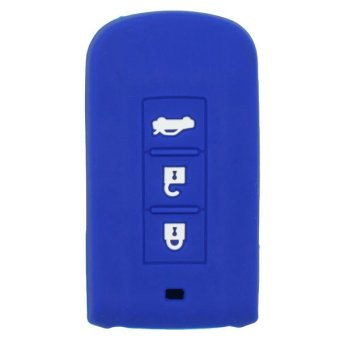 Harga CV2520DB Silicone Cover Holder Fit for Mitsubishi Smart Remote Key Deep Blue (EXPORT)