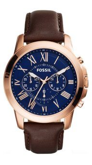 Harga Fossil Grant Chronograph Brown Leather Watch FS5068