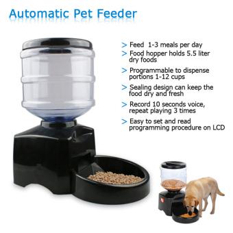 Marvogo Automatic Pet Feeder Programmable Timer Food Station Dispenser Container for Dog Cat - intl