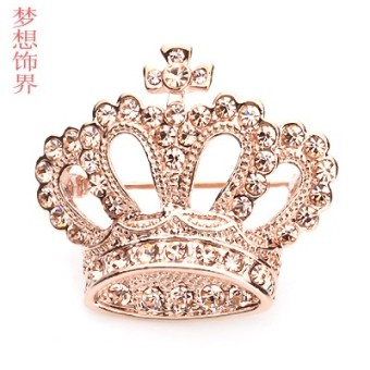 Harga CROWN high-grade brooch pin