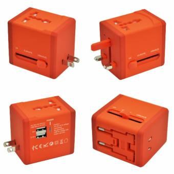 Harga Travel Adapter with 2 USB ports