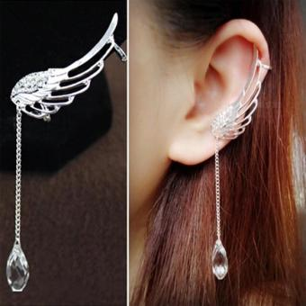 Harga Occident tye Fairy Ange Wing Ear Cip Cryta Chain Earring Silver