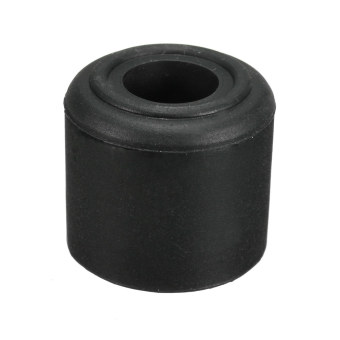 Harga BLACK 28mm Rubber Door Stop Stopper Cylinder Jam Wedge Home Door Floor Holder (Intl) Audew