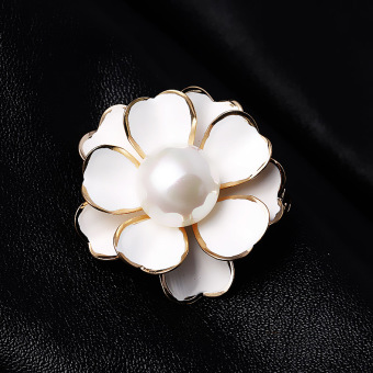Harga Ling of european and american vintage jewelry korean fashion black camellia love imitation pearl brooch pin brooch