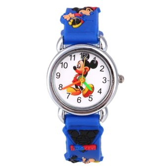 Harga Disney Frozen Silicone Elsa & Anna Children Kids Wrist Watch Random Color - intl