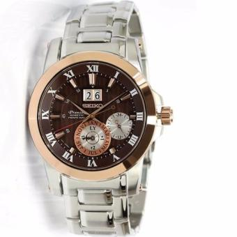 Seiko Premier Kinetic SNP128 SNP128P1 SNP128P Perpetual Calendar Men's Watch