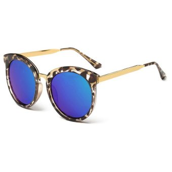 Harga ZUNCLE Luxurious UV Women's Sunglasses (Leopard+Blue)