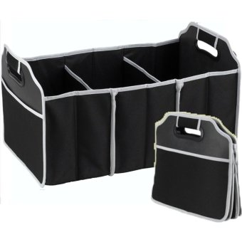 Harga Car Boot Organizer Organiser with Cooler Bag Collapsible Storage