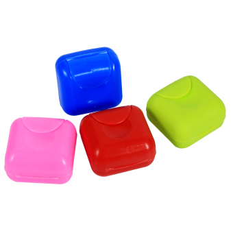 Smal l Travel Portable Soap Case Holder Container Box colors Random - intl