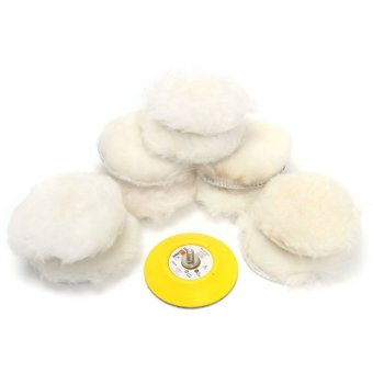 Harga Details about 11x 3Inch Lambs Woolen Polishing Pad & Buffing Pad Buff for car polisher M6x1 T - intl
