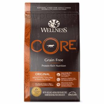 Harga Wellness Dog Core ORIGINAL Deboned Turkey, Turkey Meal & Chicken Meal Recipe GRAIN FREE 4lb (1.8kg)