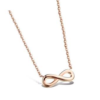 Danki Female Necklace Infinity Stylish Infinity Choker Necklace Gift Rose Gold Plated