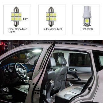 Harga For Subaru XV crosstrek Forester Outback Legacy Impreza Convenience Bulbs Car Led Interior Light C10W W5W Replacement Bulbs Dome Map Lamp Light Bright White 4 PCS Per Set - intl