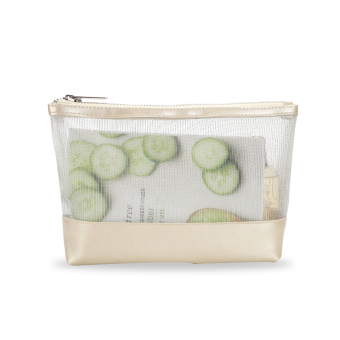 Female simple BOTTA design transparent cosmetic bag clutch bag large capacity portable travel cosmetic pouch
