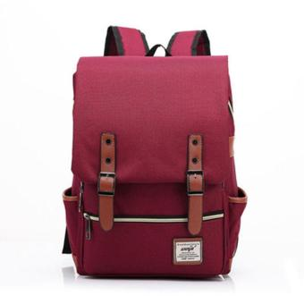 Harga PAlight Vintage Canvas Backpacks Large Bags - intl