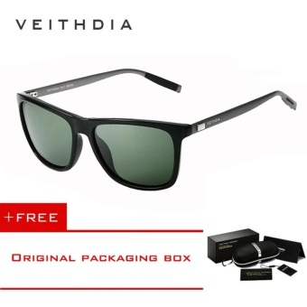 Harga VEITHDIA Brand Unisex Retro Aluminum+TR90 Sunglasses Polarized Lens Vintage Eyewear Accessories Sun Glasses For Men/Women 6108(dark-green)[ Buy 1 Get 1 Freebie ] - intl