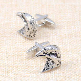 Harga [Emperor shi margin] animal bird eagle head cufflinks french cuff shirt men's business shirt cuff buckle