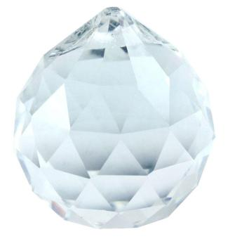 leegoal 30MM Exquisite Adornment Clear Crystal Prisms Ball Pendant,Transparent - intl