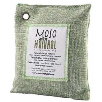 Harga Moso Natural Air Purifying Bag. Odor Eliminator for Cars, Closets, Bathrooms and Pet Areas. Green Color, 200-G - intl