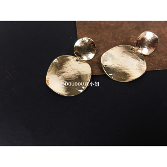 Harga Doudou very simple texture big round fashion chic bump twisted earrings concave style security and color