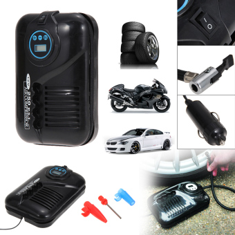 Harga 12V Travel Portable Digital DC Electric Air Compressor 250PSI Car Tyre Pump