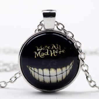 Harga Hequ 1 PC We re all Mad Here Necklace Glass Pendant Alice in Bronze - intl