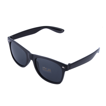 Harga Fashion Retro Vintage Unisex Trendy Cool Sunglasses(Black)