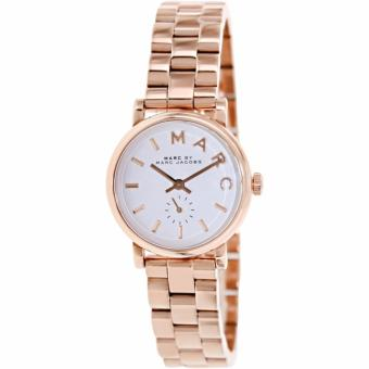 Harga Marc by Marc Jacobs Baker White Dial Rose Gold-plated Ladies Watch MBM3248
