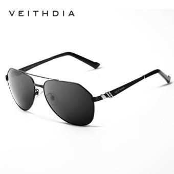 Harga VEITHDIA Brand Stainless Steel Men's Sunglasses Polarized Mirror Lens Eyewear Accessories Driving Sun Glasses For Men 3559