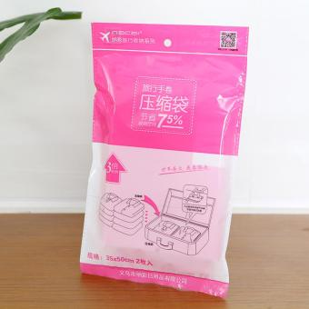 Harga Travel hand-rolled vacuum compression bags sealed into 2 - Pink (35 * 50cm)