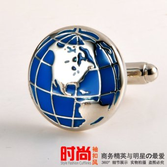 Harga Fun and creative earth interhemispheric cufflinks round cufflinks cufflinks men's french cuff shirt