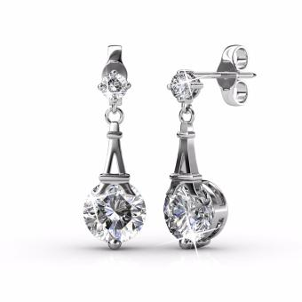 Harga Paris Earrings (White Gold) - Crystals from Swarovski®