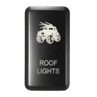 Harga 12V LED Fog Work Indicator Light Push Button Switch For Toyota Landcruiser Prado (Roof Lights) - intl