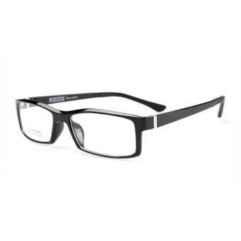 Harga ZUNCLE Fashion Wooden Style Frame Square Lens Spectacles Eyeglass - Black