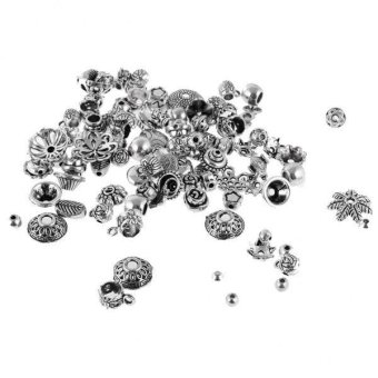 Harga MagiDeal Antique Silver Package 50g DIY Beads Accessories Receptacle Jewelry Making - intl