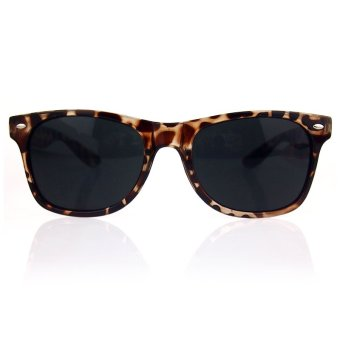 Harga ELENXS Trendy Fashion Retro Vintage Unisex Sunglasses (Leopard) (Intl)