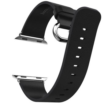 Hoco Luxurious Band Genuine Leather Watchband for Apple Watch 38mm (BLACK)(Export)