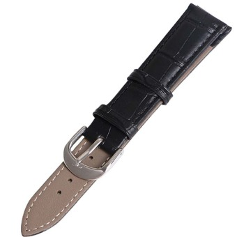 Twinklenorth 20mm Black Genuine Leather Watch Strap Band - Intl
