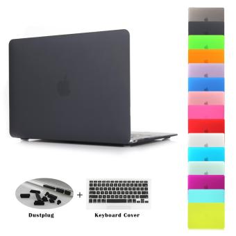 Harga JUSHENG 3in1 Air 13 Matting Rubber Coated Plastic Hard Case with Keyboard Cover & Dust Plug for MacBook Air 13 inch (Model: A1369 and A1466) - intl