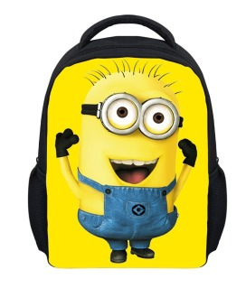 Harga HuoLaLAa Cute Cartoon Despicable Me Minion Backpack for Kids Fashion Child Kindergarten School Bags Baby Boys Small Minions Mochila Bag-Sky Blue