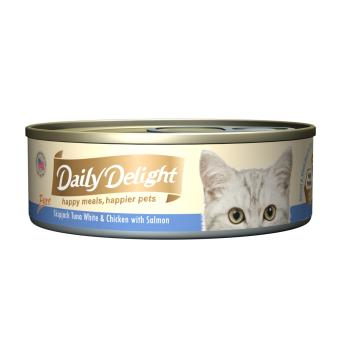 Harga Daily Delight Pure Skipjack Tuna White & Chicken with Salmon (24 x 80g)
