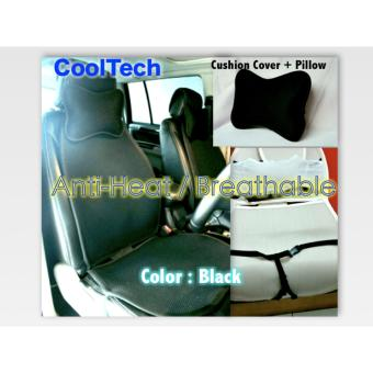 Harga CoolTech Cars Seat Cushion Cover Colors Black Brown Cream Breathable & Anti Heat