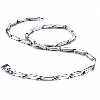 Harga Jewelry Stainless Steel Mens Chain Necklace for Men 3mm Wide 18-36 Inch - intl