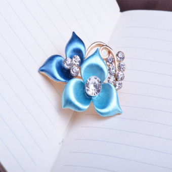 Harga Upscale boutique upscale corsage brooch female petal flowers korean fashion clover flower brooch