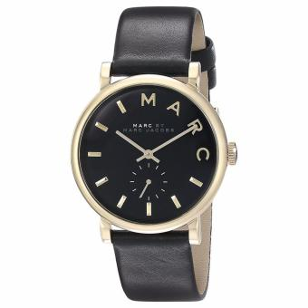 Harga Marc By Marc Jacobs Ladies' Black Leather Strap Baker Watch MBM1269