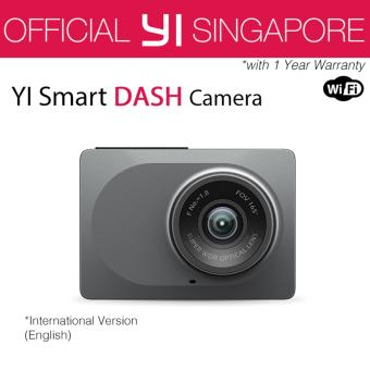 Harga [Official XiaoYi SG]English XiaoMi Xiaoyi Yi Car Dash Driving Recorder Mi Camera 2.7 Inch 165 Degree 1080P HD ADAS CCTV Security (Grey)