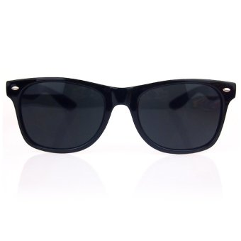Harga ELENXS Trendy Fashion Retro Vintage Unisex Sunglasses (Black) (Intl)
