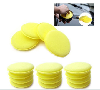 Harga 12x Waxing Polish Sponge Applicator Pads Fit Clean (Yellow) - intl