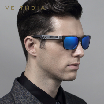 Harga VEITHDIA Aluminum Sunglasses Polarized Lens Men Sun Glasses Mirror Male Driving Fishing Eyewears Accessories 6560 (Gray/Blue)